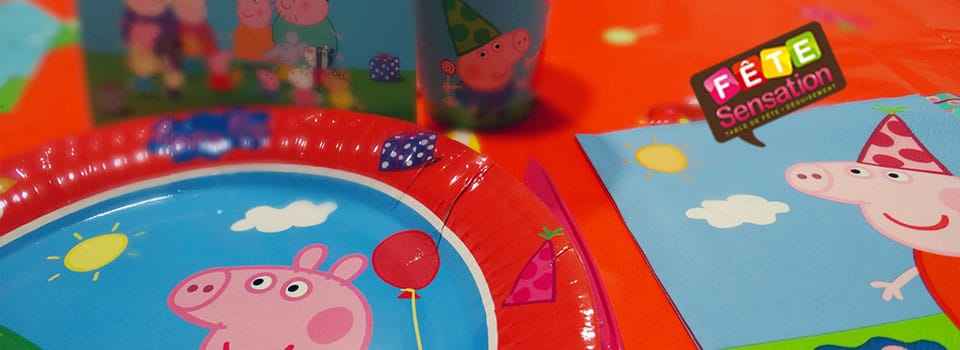 Table d'anniversaire Peppa Pig