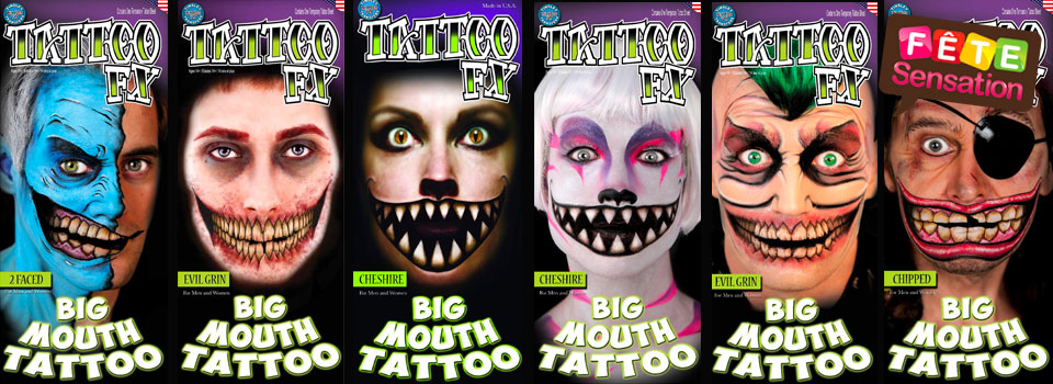 Faux tatouages visage - Tattoo big mouth